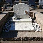ペット墓地の作業、多磨霊園にて外柵リフォーム他。