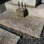 雑司ヶ谷霊園にて、納骨と追加彫刻の下見を行いました。
