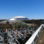 多磨霊園の新規区画の基礎工事など。