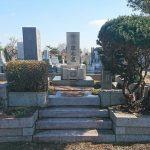 多磨霊園にて、納骨の下見とお墓のお掃除。