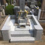 お墓の外柵リフォームが完了。世田谷区の寺院墓地にて