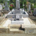 多磨霊園にて、抜根と草止め工事、拝石の交換が完了しました。
