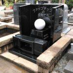 府中市の慈恵院様にて、インド産MU(黒御影石)とビアンコカララ(大理石)を使用した、ペットホテルの合葬墓を建立いたしました